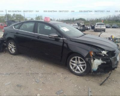 Salvage Black 2015 Ford Fusion
