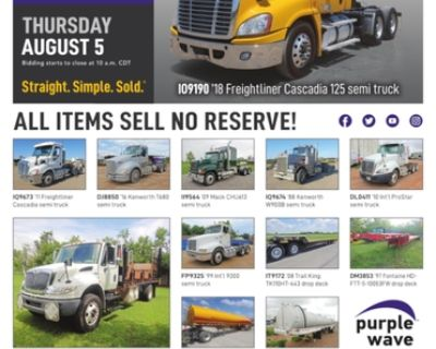 August 5 truck and trailer auction