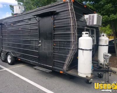 Used 2016 - 24' Mobile Kitchen Food Concession Trailer