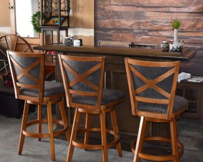High End Bar with Bar Stools for Sale – Originally Purchased for $4300