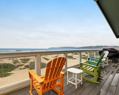 Beachfront home w/ private hot tub, amazing ocean views & two-level deck! - Oceano