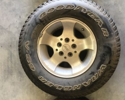 Jeep Wheel and Goodyear Wrangler Tire