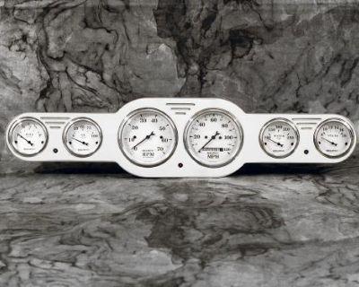 Billet Aluminum 6 Gauge Street Rod / Hot Rod Universal Gauge Panel Dash Insert