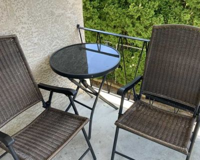 FREE bistro patio table and chairs