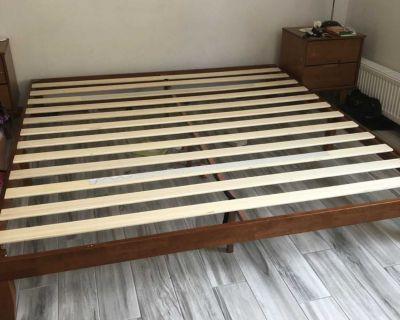 Scandinavian WOOD BED Frame - King