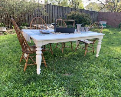 Farmhouse Table and Habersham chairs