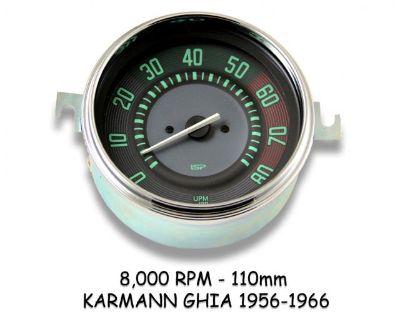 Karmann Ghia 8,000 RPM Tachometers