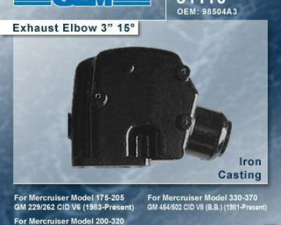 Mercruiser Glm 3' Riser/exhaust Elbow