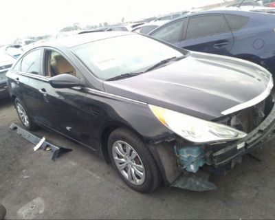 Salvage Black 2012 Hyundai Sonata
