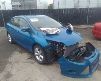 Salvage Blue 2013 Ford Focus