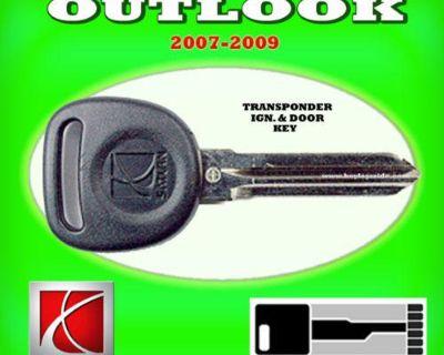 07 08 09 Saturn Outlook Transponder Chip Ignition Key