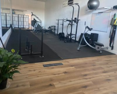 Modern and Minimalist Fitness Studio Perfect for Content, Woodland Hills, CA