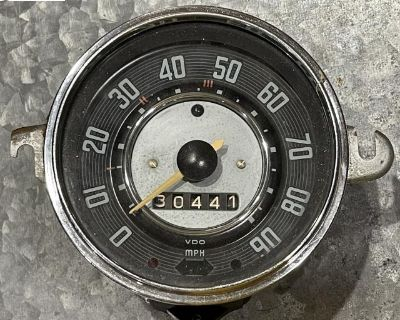 11/65 90mph speedo, tested, restored clean lights
