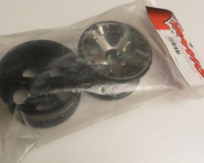 Traxxas 1/10 black chrome rims
