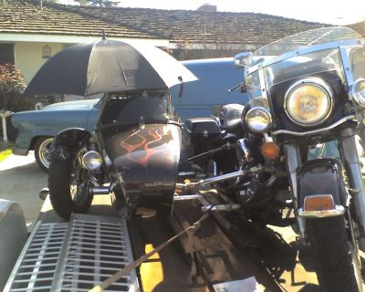 Side car harley davidson with minor damage trade offers over under 5500