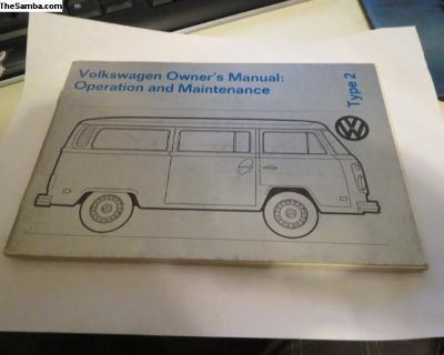 NOS 1973 Transporter Owners Manual