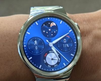 Huawei Watch Stainless Steel with Stainless Steel Mesh Band