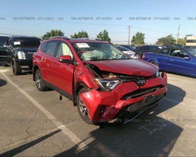 Salvage Burgundy 2017 Toyota Rav4