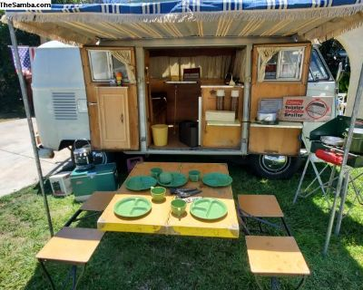 RARE 66 Riviera camper DRY OG Paint,interior,TENT