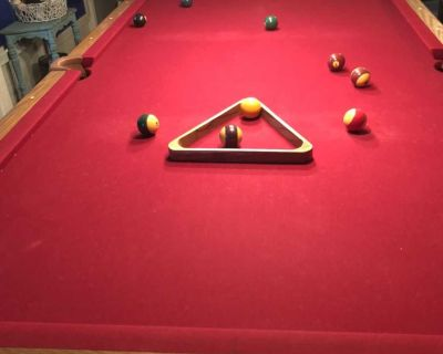 Olhausen 8 ft. Slate pool table & all accessories
