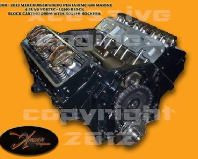$1,399 1993 - 2012 Marine 262 CID 4.3L V6 Vortec Rema Engine - Long Block