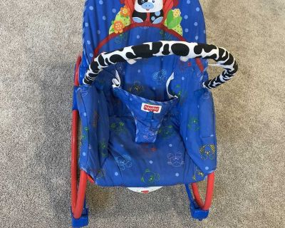 Fisher price baby rocker chair with adjustable recline.
