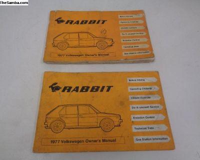 VW 1977 Rabbit Owner's Manuals