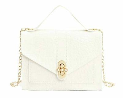 Snakeskin white purse