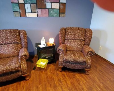 Set of 2 wingback recliners by Lazyboy