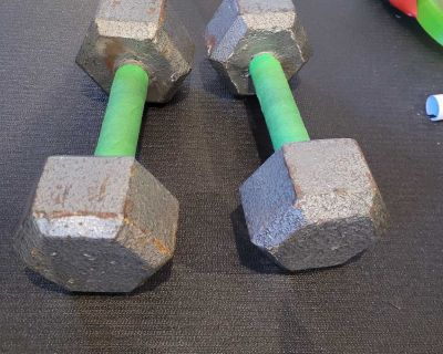 15 lbs dumbbells weights poids alt res
