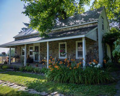Historic 1700s Stone Farmhouse w/ Barn on Rural 13-acre Property, Upper Black Eddy, PA