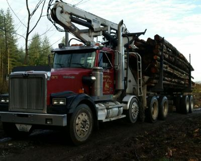 🔥FIREWOOD LOGS For Sale, Self Loader Log Truck Delivers Western Washington