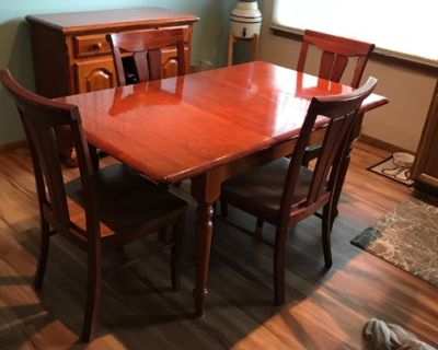 4 Chairs and Table and Side Cabinet