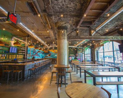 Converted Industrial Craft Brewery And Restaurant For Events, Philadelphia, PA