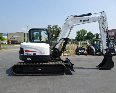 2017 Bobcat E85 COMPACT EXCAVATOR 59.4 HP Diesel Engine (Tier 4) - M SERIES - PIN GRABBER W/ 2 BUCKETS Two-Speed - 18,977 lbs. Operating Weight - Deluxe High Back Cloth Suspension Seat - 1311 Hours!