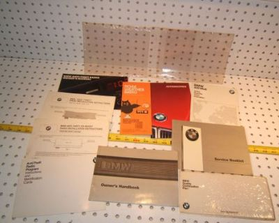 Bmw 1987 E30 325i/is/ic Owner's Manual 1 Set Of 9 Booklet/ Paper & Clear 1 Pouch