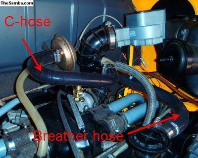 Engine Breather Hose 022-129-973c