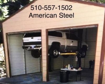 AMERICAN STEEL GARAGES SHOPS CARPORTS RV BOAT COVERS