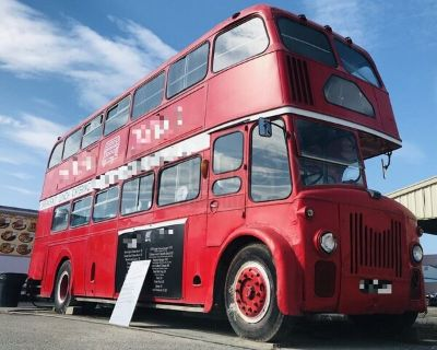 Vintage 1958 Leland Titan 26' Double Decker British Bus Food Truck