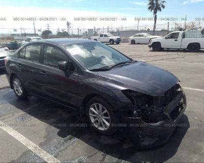 Salvage Gray 2013 Subaru Impreza Sedan