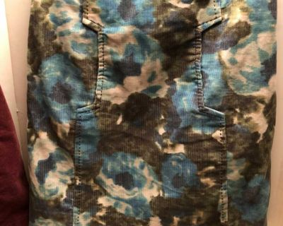 Anthropology Floral Corduroy Skirt s 4
