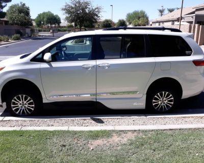 2018 Toyota Sienna XLE wheelchair conversion van pop