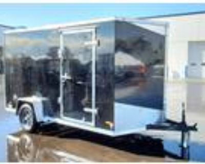 "2021 RC Trailers 6x12SA Enclosed Cargo 6'6"" Interior - Black"