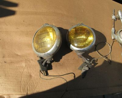 Unity Amber Fog Lights Chevy 1952 Ford 49 38 Vintage Street Rod Hot Rat Project