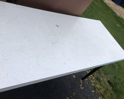 Miscellaneous use homemade table with countertop top