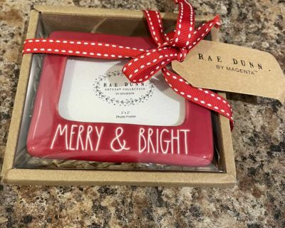 Rae Dunn 3x2 picture frame ornament