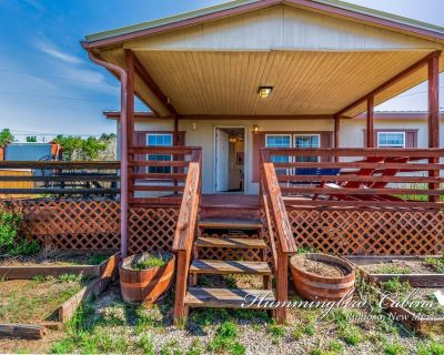 Redman! A single level, cozy cabin on a hill with a direct view of the Ruidoso Downs Racetrack! - Ruidoso Downs