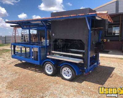 High-Capacity Mobile Barbecue Rotary Grill Rotisserie Smoker Trailer