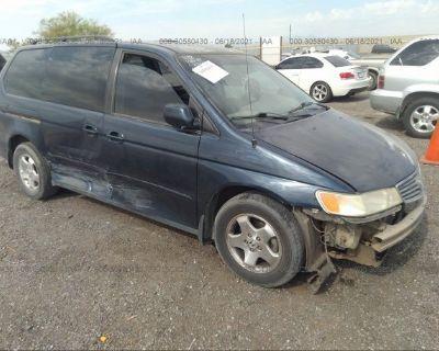 Salvage Blue 1999 Honda Odyssey