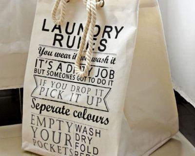 Heavy Hospital Laundry Bag/ Washing Bag/ Natural Cotton Laundry Bag